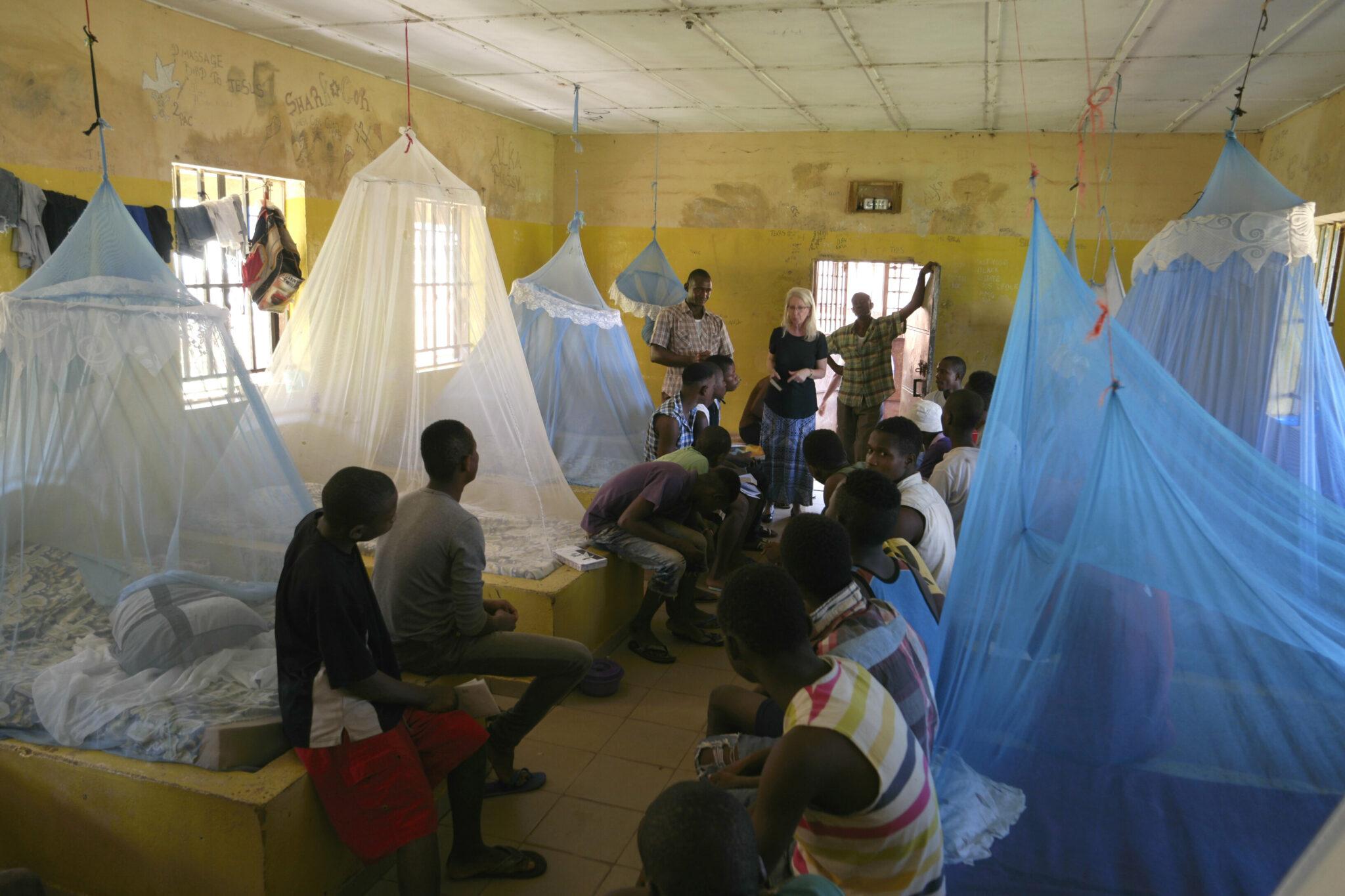 A Bible study inside a juvenile prison facility in Sierra Leone