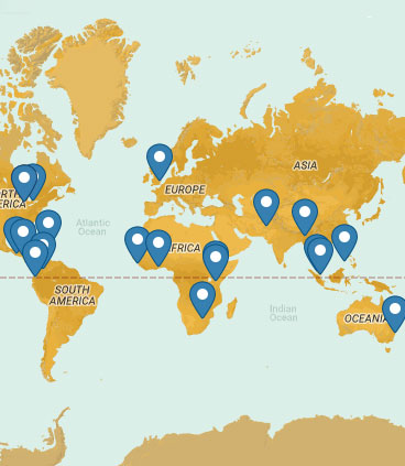 Map of Crossroads Prison Ministries International Campuses