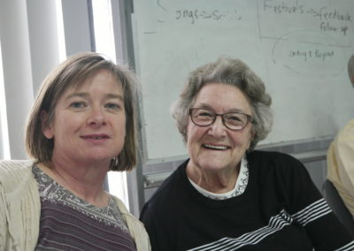 Robyn Muddle, office assistant (left) and Anne Bruinsma, Committee of Management