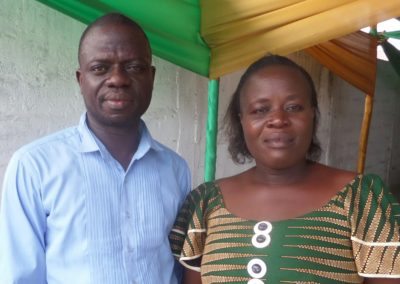 Benin Director Merveil and wife Elsie