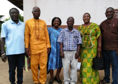 Director David (middle) and Crossroads Ghana Staff