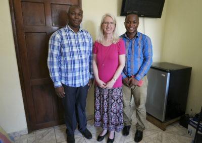 Cynthia Williams (International Director) with Crossroads Sierra Leone Leadership
